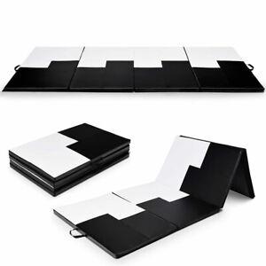"4'x10'x2"" Gymnastics Mat Folding Portable Exercise Aerobics Exercise Gym Fitness"