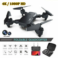 RC Drone WIFI FPV 4K/1080P Camera Foldable Selfie RC Quadcopter for Adults