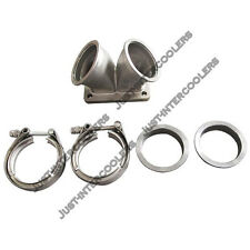 """CXRacing 3"""" Vband Inlet to T6 Dual Turbo Elbow Twin Scroll Divided Adapter"""