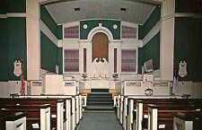 NORFOLK VA Park Place Methodist Church Interior Colonial at 34th & 35th postcard