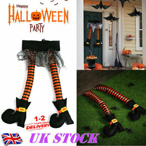 Hanging Hag Party Decoration Prank Prop Halloween Wicked Witch Legs With Shoes