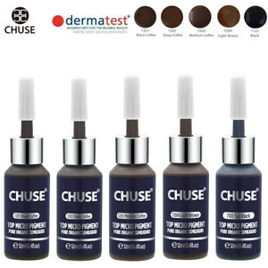 CHUSE Permanent Makeup Eyebrow Micro Pigment Color Tattoo Ink Set 12ml*5 bottles