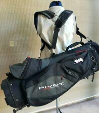 Ogio Pivot GS Men's Golf Stand Bag 5 Way Club Holder Top Gray Black Carry
