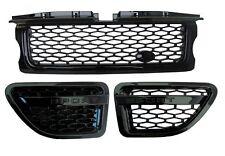 Range Rover Sport Calandre + Side Vent Autobiography Style Upgrade Kit Complet Noir V8
