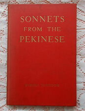 SONNETS FROM THE PEKINESE & OTHER DOGGEREL BY BURGES JOHNSON 1946 REPRINT DOGS