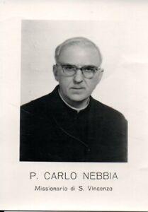 Santino P. Carlo Nebbia Missionario di S. Vincenzo Holy card  (7)