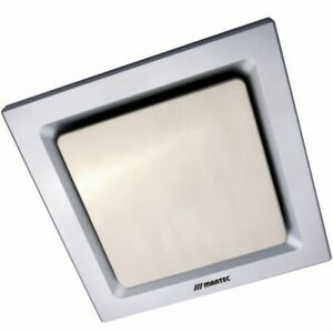 Martec Tetra Square Bathroom or Toilet Exhaust Fan 240m3 Extraction in Silver