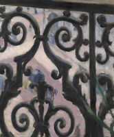 View Seen Through A Balcony Gustave Caillebotte Wall Art Print Painting Giclee S