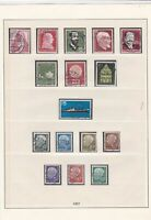 german 1957 used stamps page ref 17440