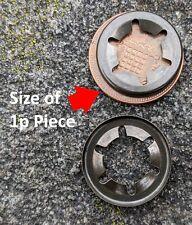 Mac Allister Mower Wheel Retaining Clip  Washer 1 Pair For 10 mm Axle