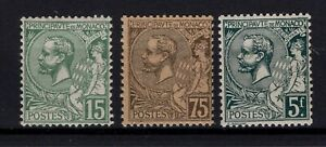 G128697 / MONACO / Y&T # 44 – 45 - 47 MNH ** CV 130 $