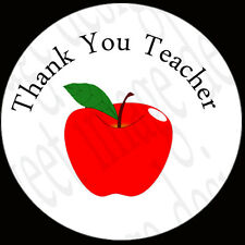 35 x THANK YOU TEACHER ~ Labels ~ Stickers ~ Gifts ~ Cards ~ Bags ~ apple