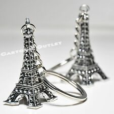 12 EIFFEL TOWER KEY CHAINS BRIDAL SHOWER PARTY FAVORS 3D FIG QUINCEANERA WEDDING