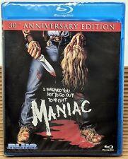 Maniac ~ 30th Anniversary Edition SLASHER from Blue Underground NEW & SEALED
