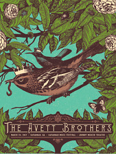 Avett Brothers Poster Johnny Mercer Theater Savannah, GA 3/24 2017