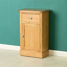 Telephone Table with Cupboard Drawer Hampshire Oak Solid Wood Furniture