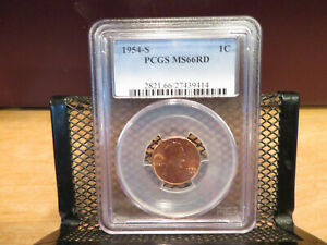 1954-S Lincoln Cent PCGS MS66RD skcl0069