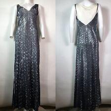 Rare Vtg Maison Martin Margiela Gray Trompe L'oeil Gown Dress L Miss Deanna