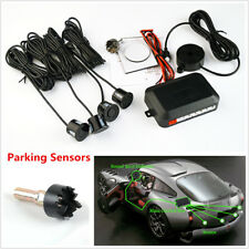 Black 4 Parking Sensor Car Reversing Backup Rear Buzzer Radar Sound Alarm System
