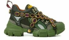 GUCCI FLASHTREK REMOVABLE CRYSTAL TRAINERS SHOES TURNSCHUHE SCHUHE SNEAKERS 37