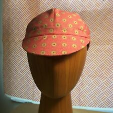 Handmade 100% cotton cycling cap - pink !