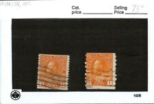 Middlesex Stamps,  Canada Stamp # 126  KGV 1 cent coil issue, lot of 2 used  c15