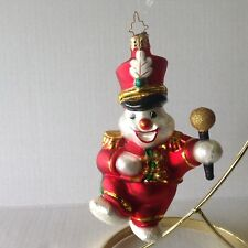 Vintage Christopher Radko Christmas Snowman Ornament Leader of the Band