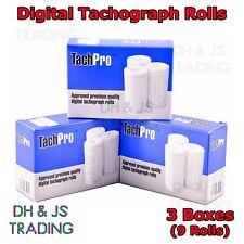 9x TachPro Tachograph Digital Rolls Thermal Paper Wagon Lorry Bus Coach 9 Rolls