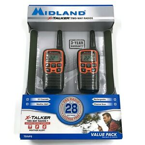 NEW Midland X-Talker T51VP3 Two-Way Radio WALKIE TALKIE 2-Pack Rechargeable 28 m