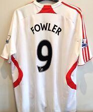 Liverpool 2007-2008 Away Shirt Robbie Fowler #9 Adidas Football Jersey
