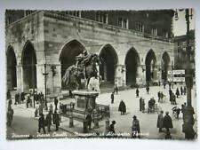 PIACENZA Piazza Cavalli monumento Farnese animata vecchia cartolina
