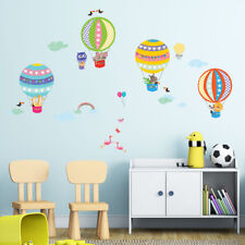 Decowall Hot Air Balloons Animals Kids Removable Wall Stickers Decal DA-1710B