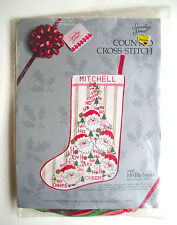 New Vintage Christmas Stocking Kit Counted Cross Stitch Something Special Santa