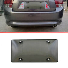 Auto Smart Car Clear Tinted License Plate Cover Smoked Bubble Shield Black Tag