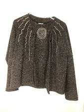 StudioMax Women Knitwear 2 Pc Two Button Down Cardigan Sweater/Tank Sweater Sz M