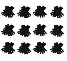 Ladies 12pk Black Winter Magic Gloves Stretch One Size