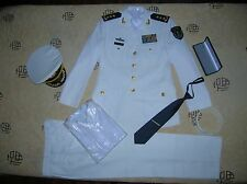 Obsolete 07's series China PLA Navy 3 Stars Man Admiral Uniform,White,Set