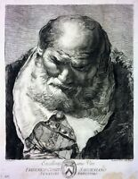 PORTRAIT OF OLD MAN. ETCHING. GIAMBATTISTA TIEPOLO. VENICE. CENTURY XVIII