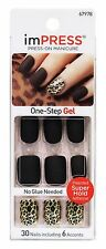 KISS Broadway Nails Impress Press-On Manicure Kit Claim to Fame Matte Black