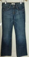 Deluxe Premium Denim Jeans Women's Size 25 Embroidered Pocket USED B