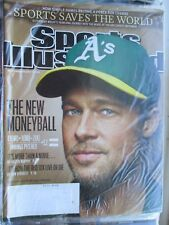 2011 BRAD PITT~SPORTS ILLUSTRATED~THE NEW MONEYBALL~OAKLAND A's~GM BILLY BEANE
