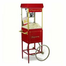 More details for gold medal 8oz fun pop red popcorn machine on matching cart