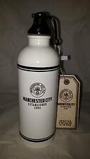 Manchester City FC Retro Tin Sports Bottle 500 ml  - Ideal Gift