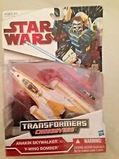 Transformers Star Wars CrossOvers Anakin Skywalker Y-Wing Bomber NEW MIB