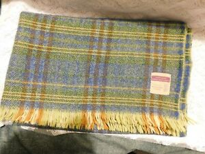 HIGHLAND HOME INDUSTRIES WOOL BLANKET WOVEN IN SCOTLAND