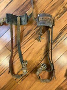 Vintage BASHLIN 105 Adjustable Climbing Spikes & Gaffs for Lineman & Lumberjacks