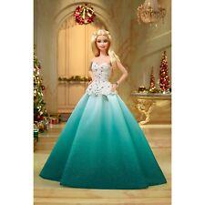 2016 Happy Holiday Barbie Blonde doll NRFB Christmas
