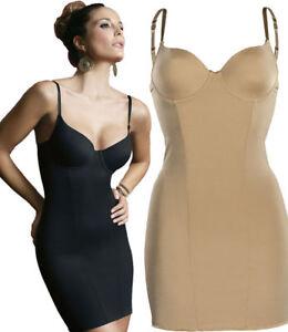 Fond de robe sculptant Lingerie gainante Femme Sassa 36968 90-110 B-D Chair Noir