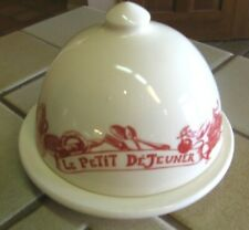 Le Comptoir de Famille LE PETIT DEJEUNER  COVERED BUTTER DISH FRANCE 3 AVAILABLE