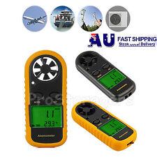 Digital LCD Anemometer Thermometer Air Wind Speed Gauge Meter Backlight